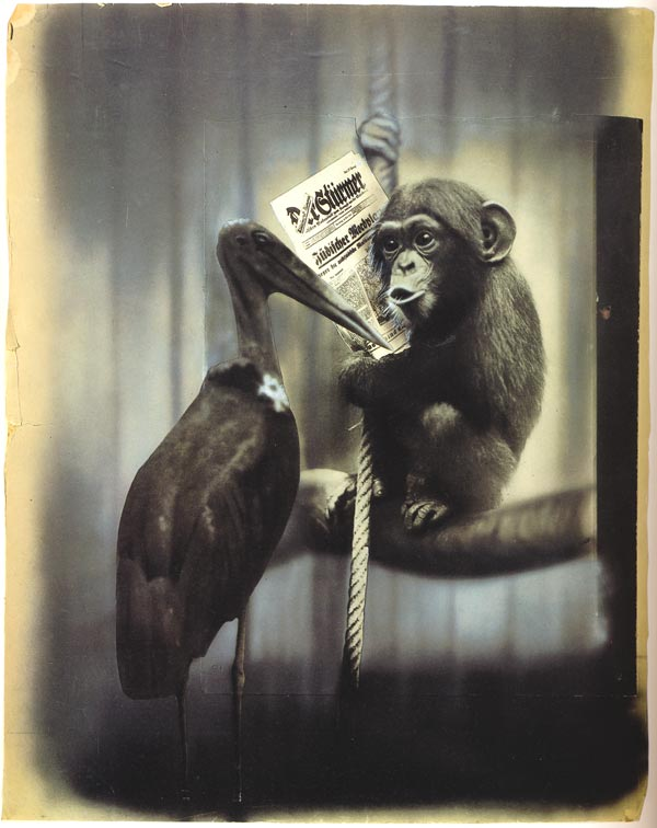 john heartfield political collage Conversation In The Berlin Zoo