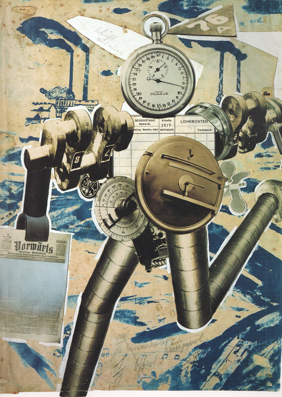 robots replace humans john heartfield political collage Rationalization Is On The March!