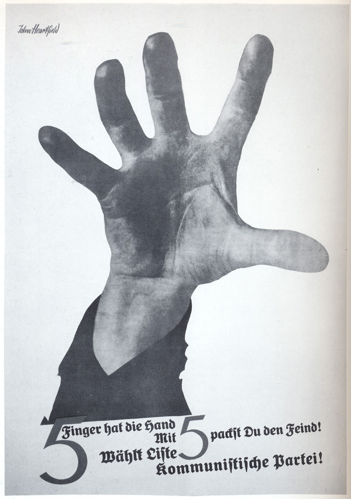john heartfield political collage 5 Fingers Has The Hand