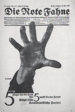 Heartfield Poster Fahne 5 Finger