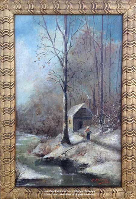 Heartfield Commercial Work. Early Oil Painting: The Cottage In The Woods, John J Heartfield Collection