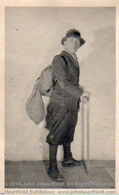 John Heartfield in mountain gear