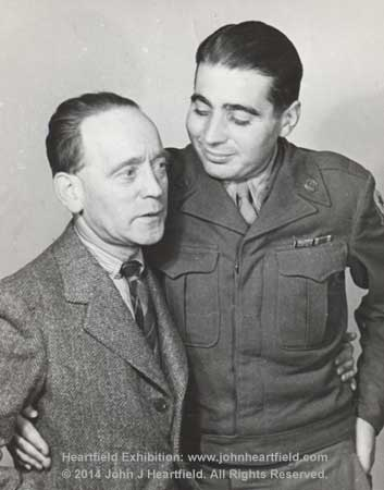 about John Heartfield and only son, Tom George Heartfield, World War Two