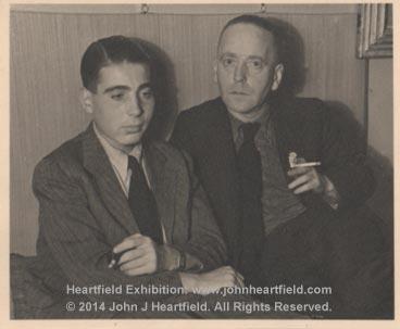 John Heartfield and his son, Tom, Prague, 1938