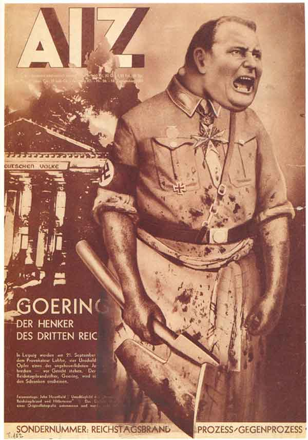 John Heartfield collage Göring The Executioner In Context by Maud Lavin