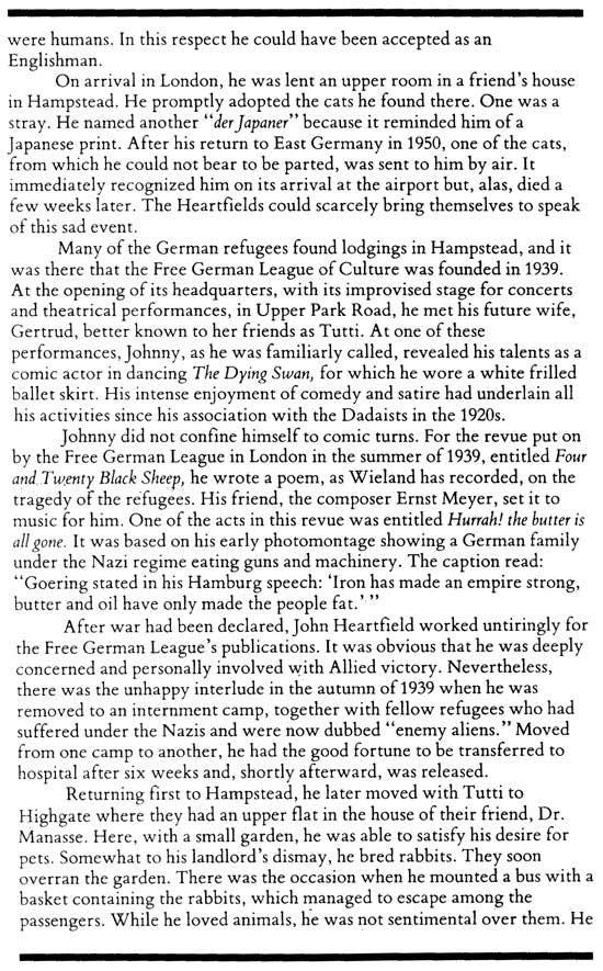 Richard Carline Art History John Heartfield In England