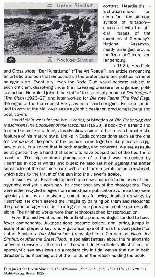Sinclair Lewis Book Cover John Heartfield MOMA Exhibition