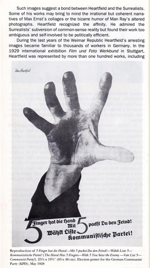 John Heartfield Open Hand Image MOMA Photomontage Exhibition