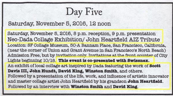Modern Dada World Fair, Heartfield Presentation, San Francisco 2016