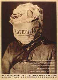 famous antifascist poster john heartfield Blind Deaf Media